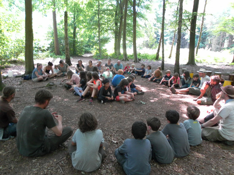 children in the woods